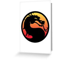 Mortal Kombat Logo Greeting Card