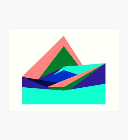 Pink Hills, Generative Art, Data Visualisation Art Print