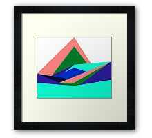 Pink Hills, Generative Art, Data Visualisation Framed Print