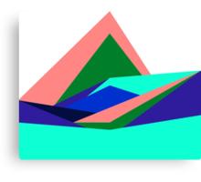 Pink Hills, Generative Art, Data Visualisation Canvas Print