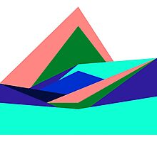 Pink Hills, Generative Art, Data Visualisation Photographic Print