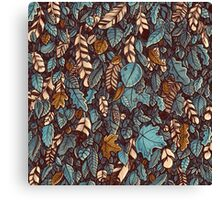 Leaves color blue Canvas Print