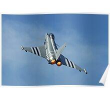 Afterburners On - Eurofighter Typhoon  - Farnborough 2014 Poster