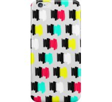 Colorful Retro Painted Brush Stroke Polka Dots iPhone Case/Skin
