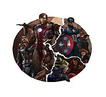 The Avengers 2 -Age of Ultron Logo Photographic Print