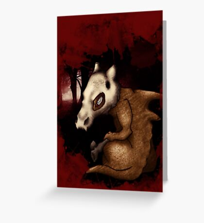 Cubone in the woods Greeting Card