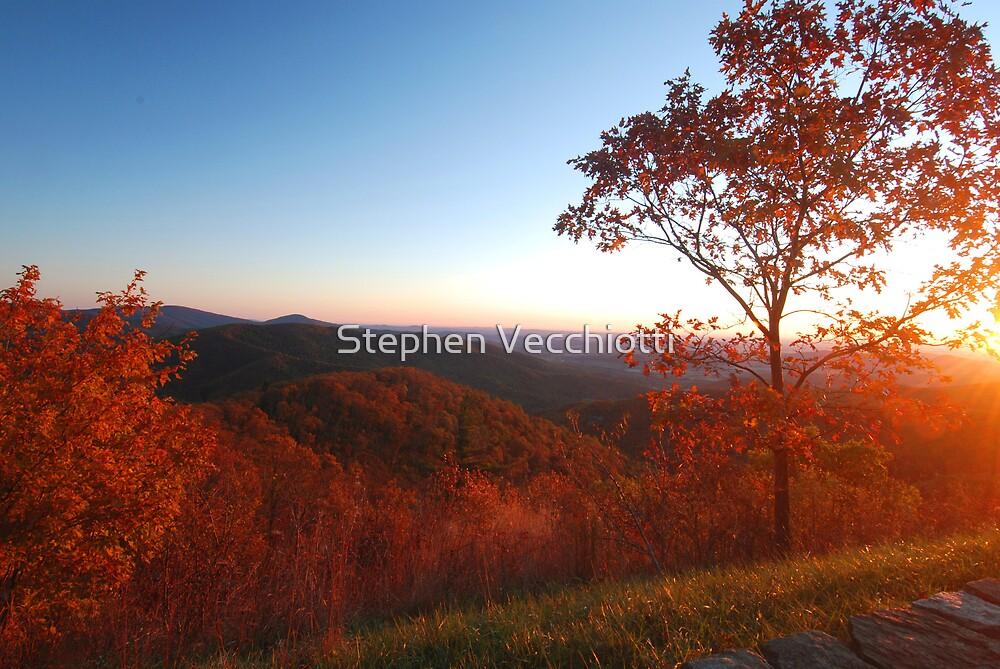 Shenandoah Autumn Sunrise by Stephen Vecchiotti