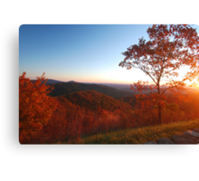Shenandoah Autumn Sunrise Canvas Print