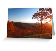 Shenandoah Autumn Sunrise Greeting Card