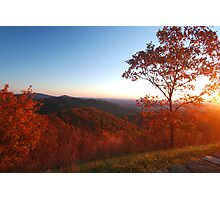 Shenandoah Autumn Sunrise Photographic Print