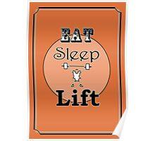 Eat Sleep Lift Poster
