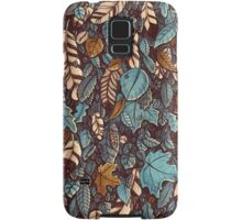 Leaves color blue Samsung Galaxy Case/Skin