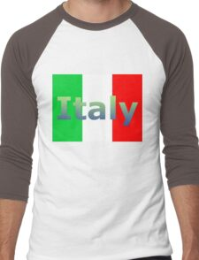 Italy Men's Baseball ¾ T-Shirt