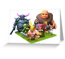 Clash of Clans Characters Art Greeting Card
