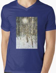 Winter Wood Mens V-Neck T-Shirt