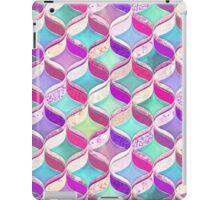 Patchwork Ribbon Ogee Pattern with Pink & Purple iPad Case/Skin