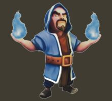 Wizard Blue Flame Clash of Clans Art by SXArtist