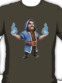 Wizard Blue Flame Clash of Clans Art T-Shirt