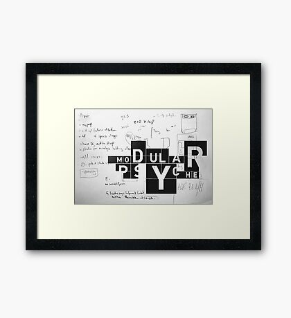 thinking in boxes Framed Print
