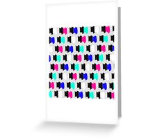 Colorful Retro Painted Brush Stroke Polka Dots Greeting Card
