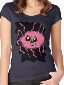 Brain Creature in Hole  Women's Fitted Scoop T-Shirt