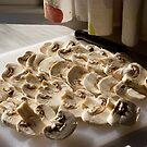 Sliced mushrooms by iOpeners