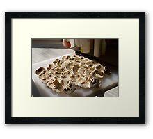 Sliced mushrooms Framed Print