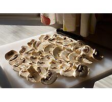Sliced mushrooms Photographic Print