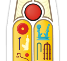 Ramesses the Great's Cartouches Sticker