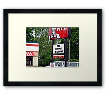 Kentucky Grilled Hick?? Framed Print