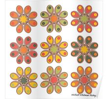 Autumn Foot Flowers Poster
