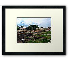 Construction Destruction Framed Print