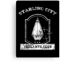 Starling City Vigilante Club Canvas Print