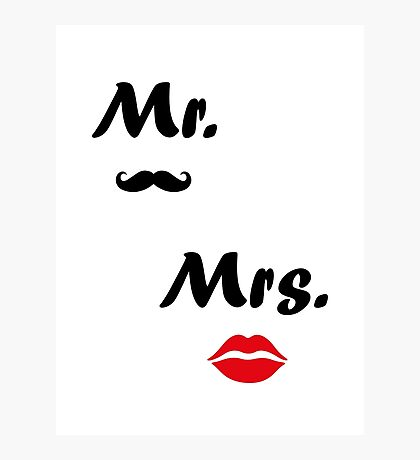 Mr. Mrs. Photographic Print