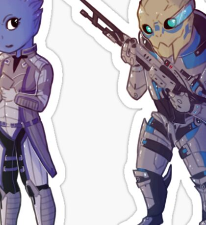 Liara & Garrus - Mass Effect Sticker