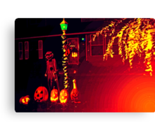 Halloween Yard 4 Canvas Print