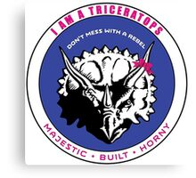 I AM A TRICERATOPS - Pink/Blue MBH Canvas Print