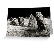A stone circle,Dartmoor.. Greeting Card