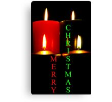 Lighted Christmas Candle Greeting - 6A Canvas Print