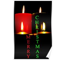 Lighted Christmas Candle Greeting - 6A Poster