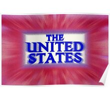 """Colorful and Bold signage of """"The United States"""" Poster"""