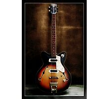 Hollow Body Bass Photographic Print