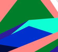 Pink Hills, Generative Art, Data Visualisation Sticker