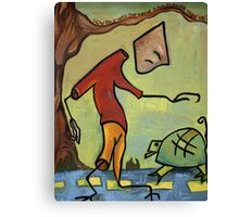 """Taking From The Turtle"" Canvas Print"