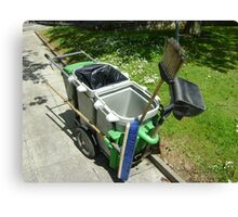 street-sweeping equipment Canvas Print