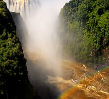 Victoria Falls, from the bridge, Zambia, Africa. by photosecosse /barbara jones
