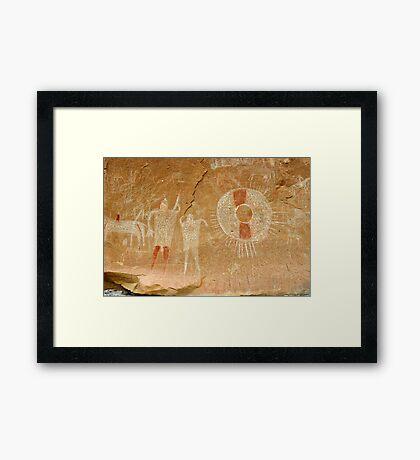 Ute Indian Pictographs Framed Print