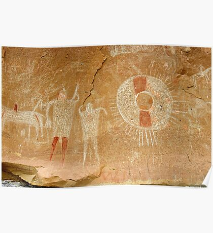 Ute Indian Pictographs Poster