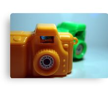 Toy Cameras Side Canvas Print