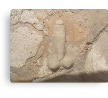 Pompeii, Stone Penis, Knob, Phallic, Brothel Sign Canvas Print
